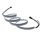ALITOVE WS2812B 5050 RGB SMD Individually Addressable LED Flexible Strip Light 3.2ft 144 LED Pixel Not Waterproof Black PCB 5V ...