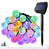 Ankway Decorativo Catena Luminosa Solare Strisce LED da Esterno - Luminarie Colorate a Globo Impermeabili Fino a 5 m, 30 ...