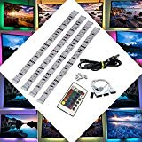 BRTLX LED TV Retroilluminazione Striscia Kits 4x50cm per HDTV Home Theater Accento Illuminazione USB Alimentato RGB 5050 SMD Multi Colorato ...