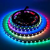BTF-LIGHTING WS2813 (Upgraded WS2812B) 5m 60LEDs/m Individually Addressable RGB LED Flexible Strip Light Dual signal wires 5050 SMD IP30 Non-Waterproof ...