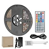 GEEDIAR LED Striscia luminosa 5M RGB 5050, led strip illuminazione Kit,12V 300 led + 44 Tasti Telecomando + Alimentatore + ...