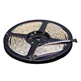 LEADSTAR Striscia LED Flessibile 5 Metri RGBW (RGB + Bianco Freddo) 5050 SMD 300 LED Strip IP65 Impermeabile per Interno ...