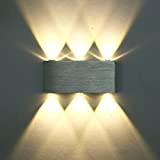 Louvra Lampada da Parete, Moderna Applique in Alluminio, 6-LED Up Down-6W Lampada da Parete per Soggiorno, Camera da Letto Bianco ...