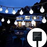 Oledank, catena di luce a energia solare, 6m, 30LED, 2modalità di luce bianco freddo, alimentato a batteria, per interni ed ...