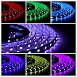 Salcar 5m Striscia LED RGB 5050 12V retroilluminazione IP44 led strip 600 leds 5 metri DC12V IP44