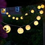 Uping, Stringa di luci, Catena Luminosa, 20 LED, 20 Lanternine, 3,6 Metri, Impermeabile, Decorativa da Interni e Esterni, Anche per ...