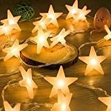 Uping Stringa di Luci, Catena Luminosa, 30 LED Stelle, 4,65 Metri, Decorativa da Interni e Esterni, anche per Festa, Giardino, ...