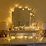 Uping Strisce LED, Luce Calda Bianca,12 Metri, Impermeabile, 100 Singoli LED, Decorativa da Interni e Esterni, Anche per Festa, Giardino, ...