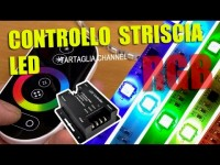Centralina strip LED RGB con driver e telecomando